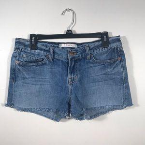 J brand fringe hem cut off blue jean shorts sz 28